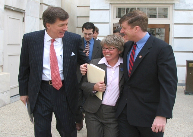 Kitty Westin with Reps. Jim Ramstad and Patrick Kennedy