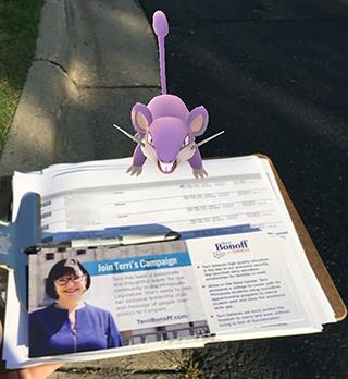 Rattata shown on Bonoff campaign literature.