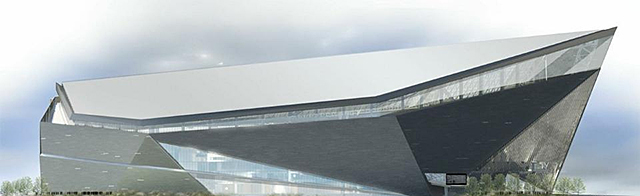 Vikings stadium design by HKS