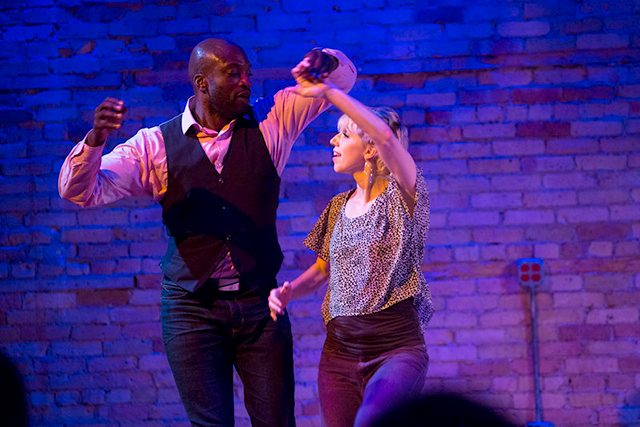 Choreographers/dancers Kwame Opare and Emily Oleson