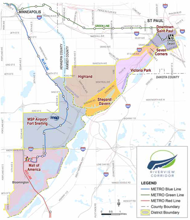 Riverview Corridor Travel Market Map
