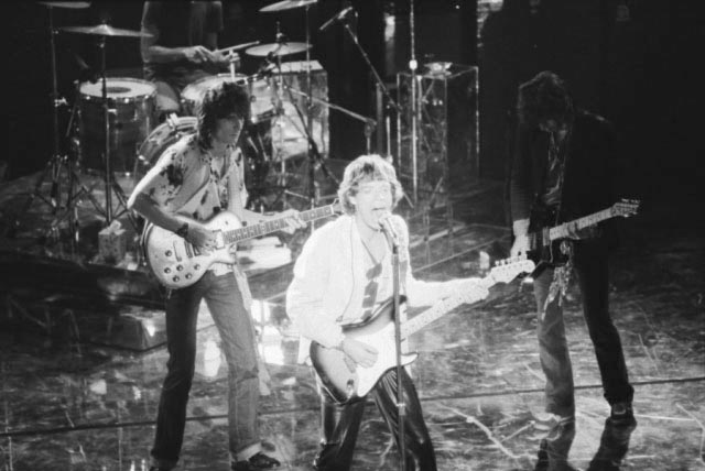 The Rolling Stones during a 1978 performance.