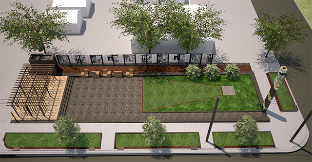 A rendering of the proposed Rondo Commemorative Plaza.