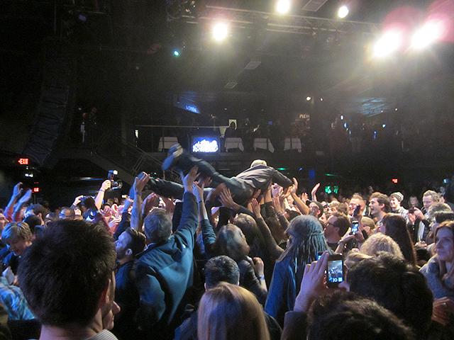 R.T. Rybak crowd-surfing