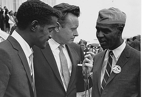 SammyDavis Jr and Roy Wilkins