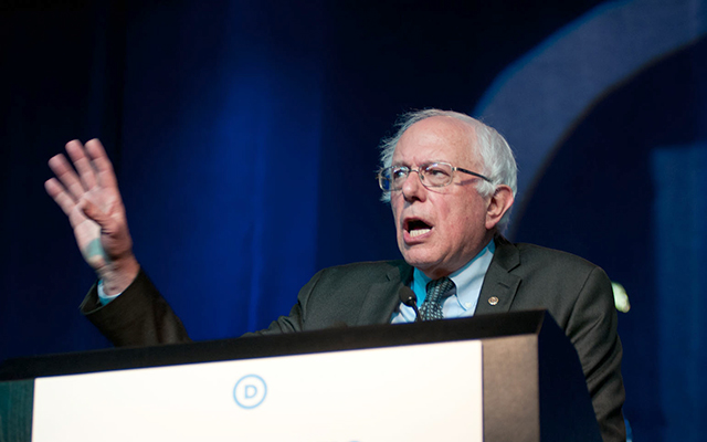 Sen. Bernie Sanders speaking