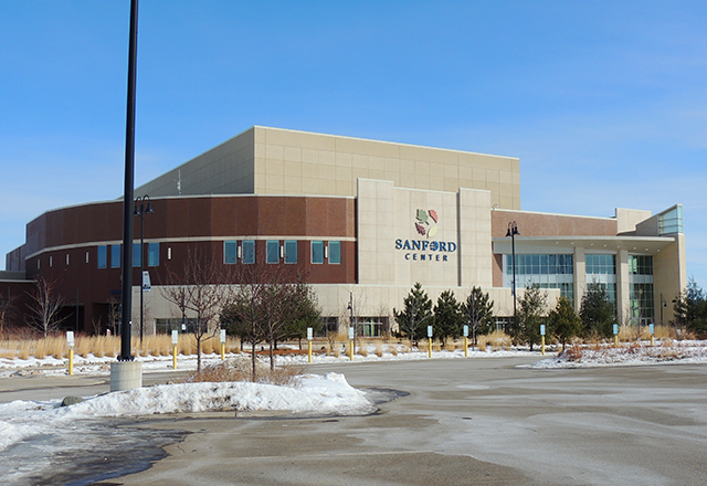The Sanford Center, home of the Bemidji State hockey teams.