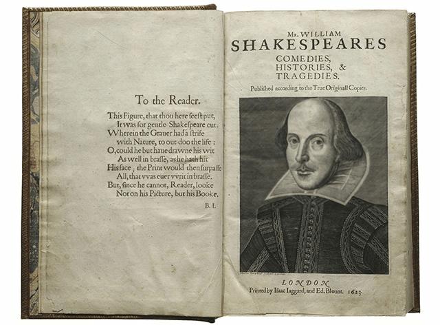 Shakespeare First Folio, 1623