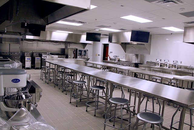 A new culinary classroom at Shakopee High School.