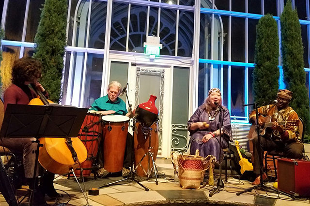 Siama's Congo World Quartet performs tonight at the Hook and Ladder.