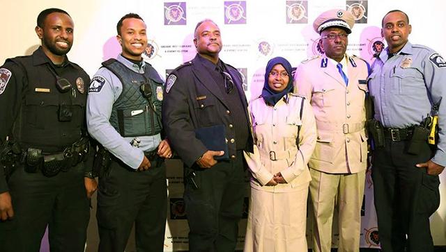 A delegation of senior police officers from Somalia visited Minnesota