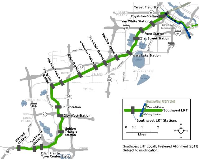 Southwest LRT proposal