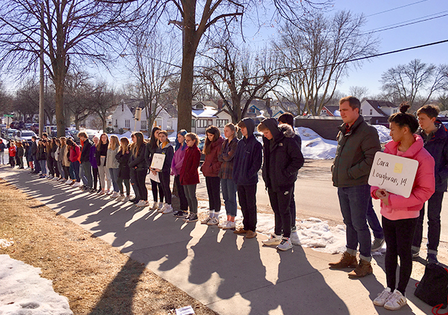 Students from Southwest High in Minneapolis