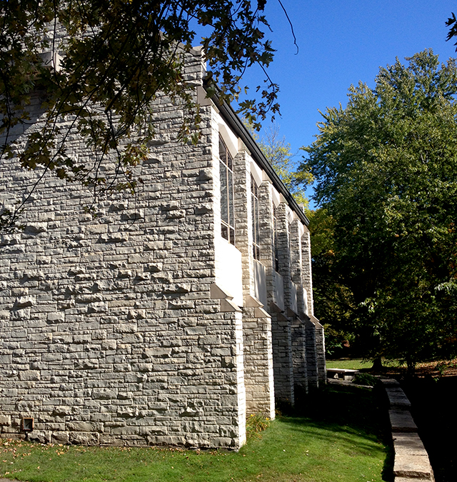 St. Stephen's Episcopal Church sits right on the creek