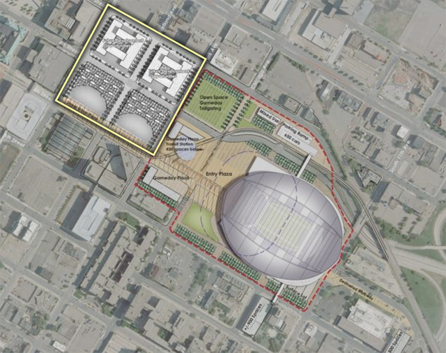 Star Tribune, Cikings stadium land