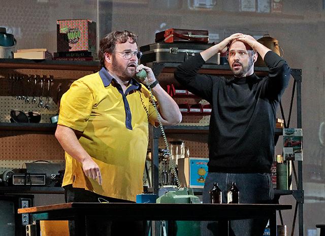 Garrett Sorenson as Steve Wozniak and Edward Parks as Steve Jobs