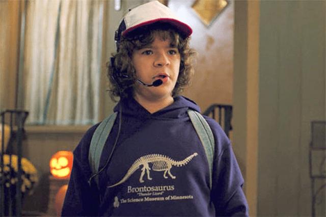 "Gaten Matarazzo as Dustin Henderson in a scene from ""Stranger Things 2."""
