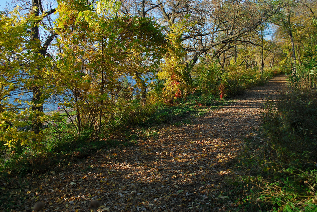 The old rail bed of the Como-Harriet line