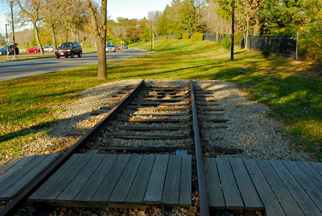 Old Lakewood Cemetery Station stood where the restored track now ends