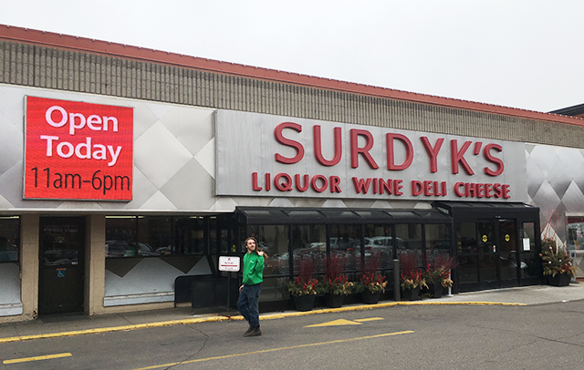 Surdyk's Liquor & Cheese Shop in Minneapolis was open for business on Sunday.