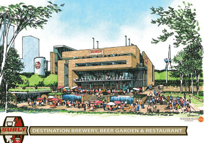 """An early rendering of Surly's proposed """"destination brewery"""""""