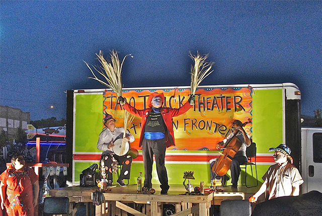 Performance artist José Torres-Tama and his ArteFuturo Ensemble