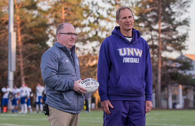 Head Coach Kirk Talley, Vice President of Student Life and Athletics Matt Hill