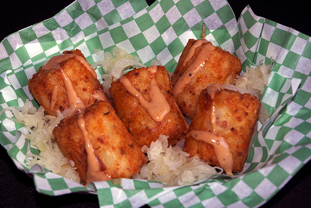 Jumbo deep-fried tater tots can be purchased at O'Gara's at the Fair.