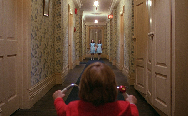 "A scene from Stanley Kubrick's ""The Shining."""