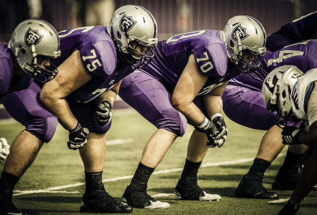 The Tommie offensive line
