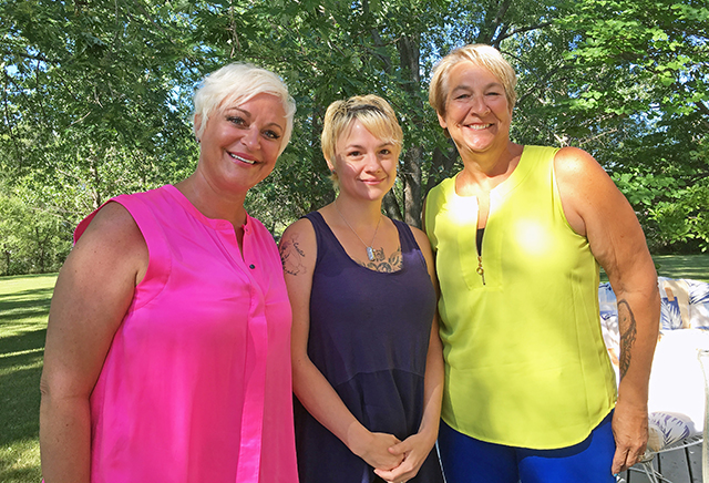 Jill Ann Anderson, Jessica Peterson and Patty Schachtner
