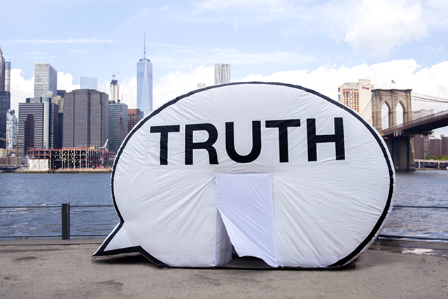 "Step inside and complete the sentence ""The truth is … ."""