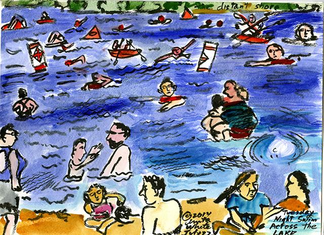 """Tuesday Night Swim Across Lake,"" by Anita White."