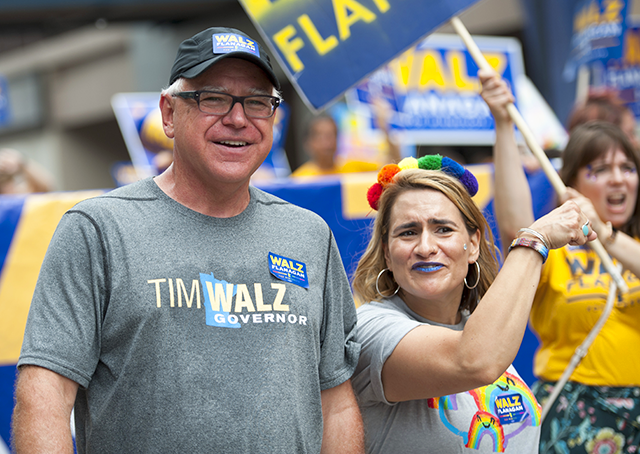 Rep. Tim Walz and state Rep. Peggy Flanagan