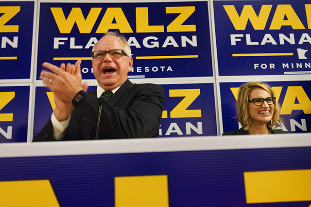 Tim Walz and Peggy Flanagan
