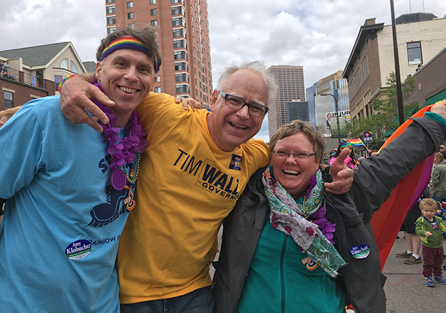 Rep. Tim Walz at the Twin Cities Pride Parade in June