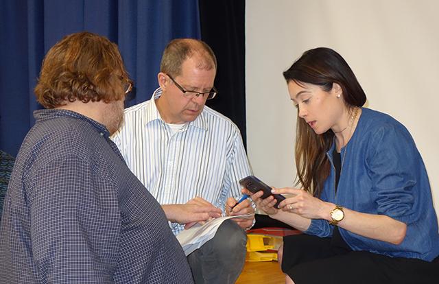 Christopher Hoffer, Tony Hainault and Lisa Baumert