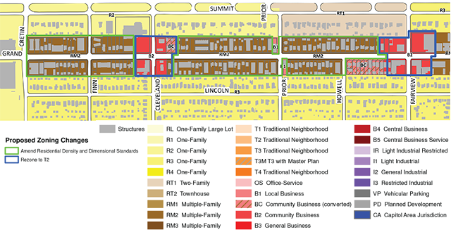 West Grand Zoning Study Area, Macalester-Groveland, St. Paul