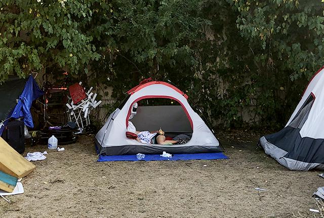 Hiawatha homeless encampment