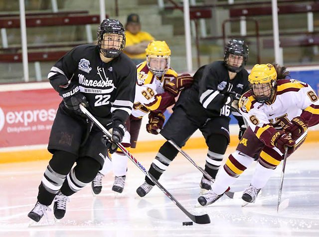 Minnesota Whitecaps versus the Gophers at Ridder Arena on Nov. 4, 2015.