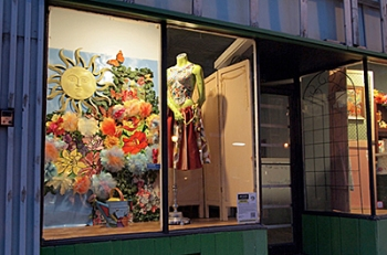 Artists in Storefronts decked out empty windows throughout the Whittier neighborhood.
