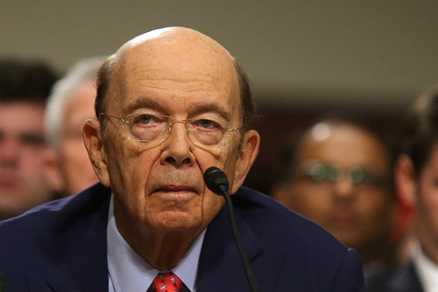 Commerce Secretary nominee Wilbur Ross testifying