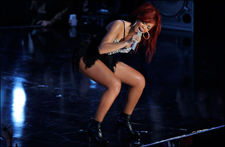 Singer Rihanna has famously insured her legs for $1 million. A study found that men respond more quickly to war-related words after viewing images of women's legs.