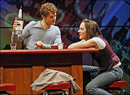 Tony Clarno (Woodson Bull III) and Emily Gunyou Halaas (Emily)