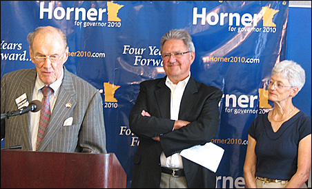 Former state Sen. George Pillsbury, with former state Reps. Neil Peterson and Peggy Leppik, have endorsed Independence Party candidate Tom Horner.