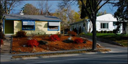 Lustron houses on Nicollet Avenue, Minneapolis.
