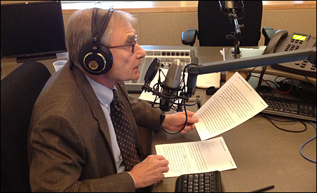 Gary Eichten during his penultimate broadcast on Minnesota Public Radio.