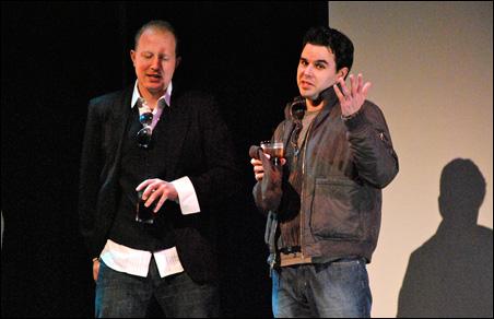 "Director Joe Dressel and Chris Cummings, writer and lead actor of ""Rough Tender,"" winner of Best Feature film."