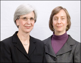 Minnesota Census of Women on Corporate Boards study authors Rebecca Hawthorne (left) and Joann Bangs.