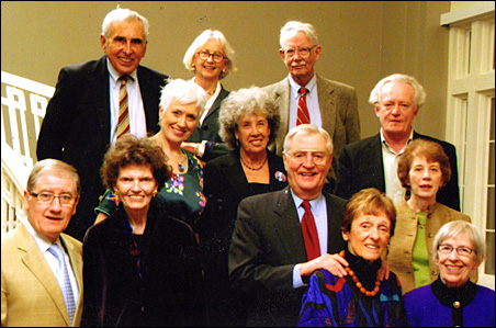 Sandy's election eve gathering in 2008 was held at the Calhoun Beach Club. Sandy is in the front row, second from left, between Guthrie director Joe Dowling and Vice President Walter Mondale.
